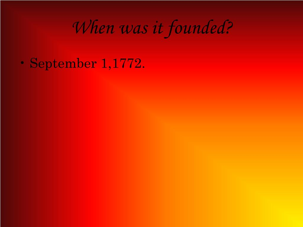 When was it founded?