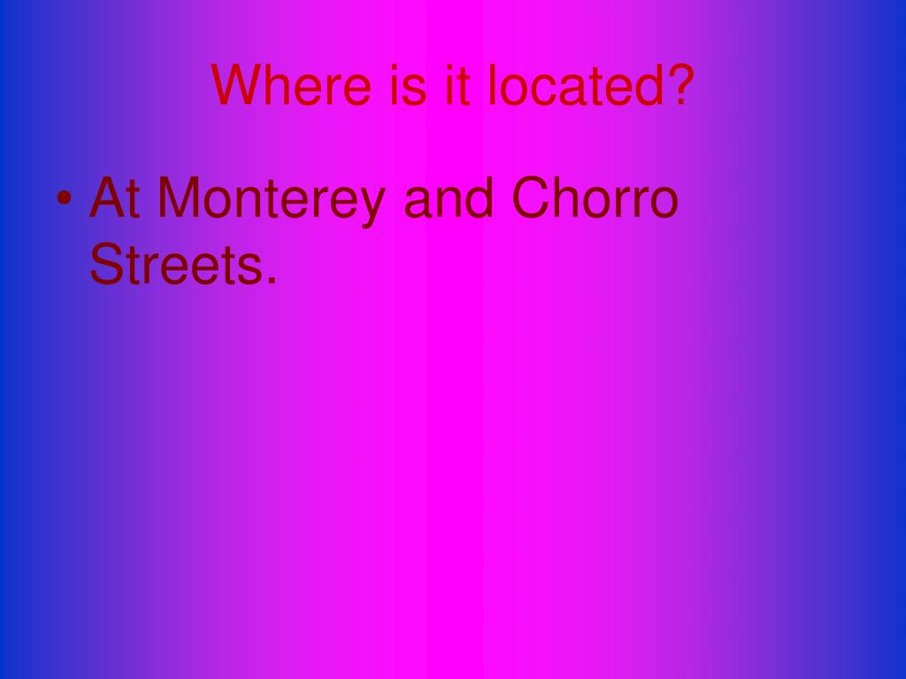 Where is it located?