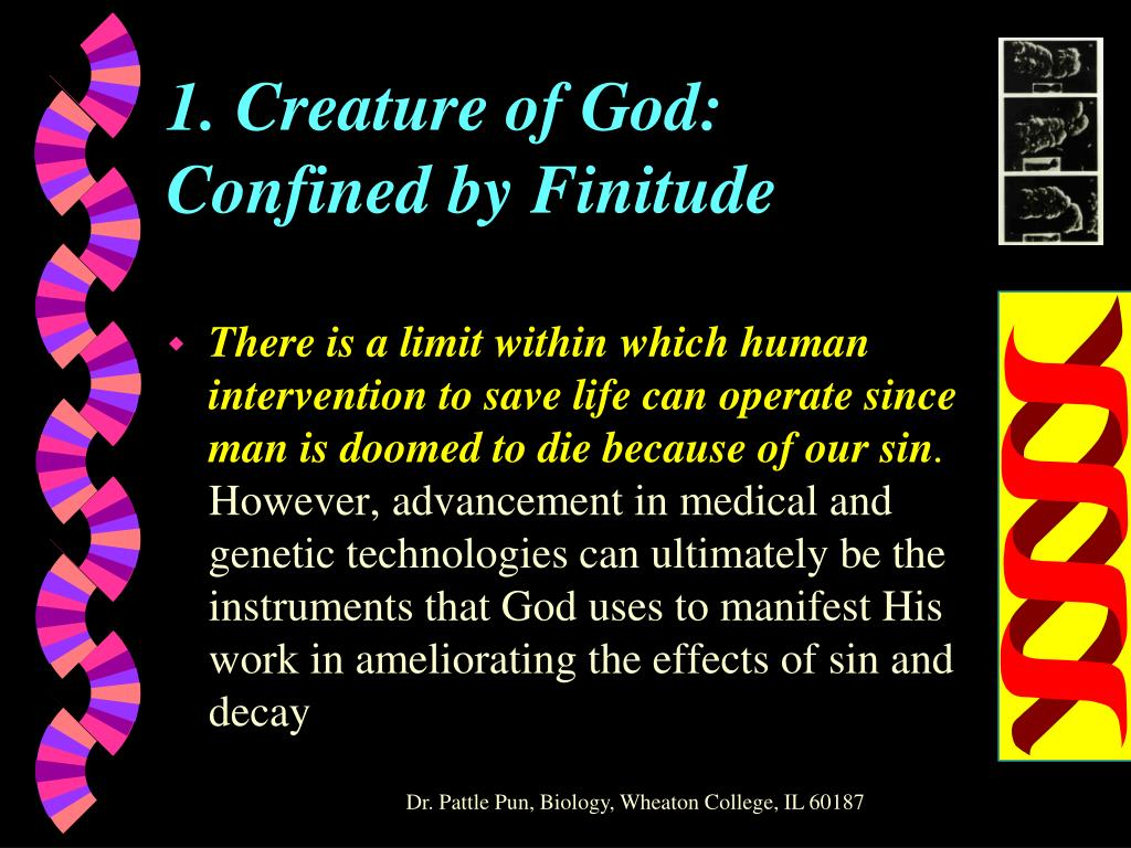 1. Creature of God: Confined by Finitude