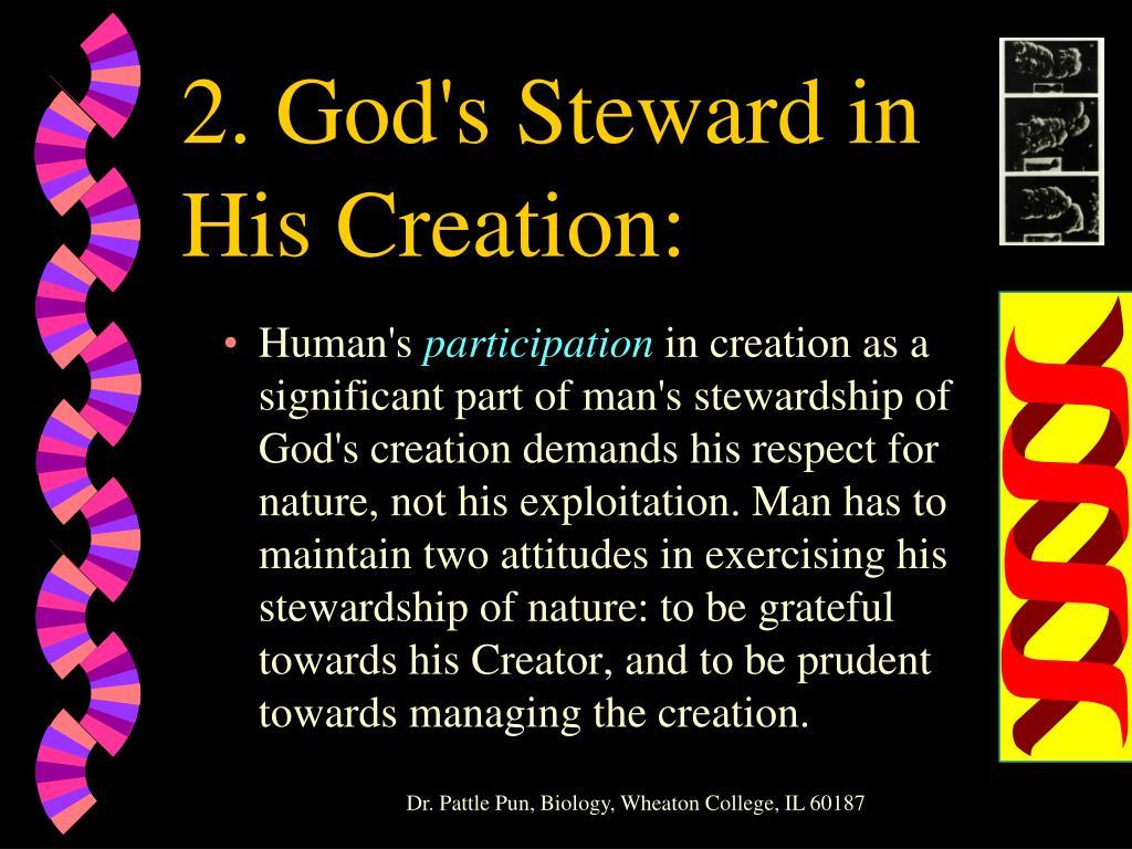 2. God's Steward in His Creation: