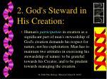 2 god s steward in his creation