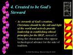 4 created to be god s steward
