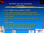 the wtec visit to the netherlands the program39