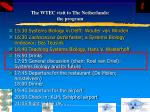 the wtec visit to the netherlands the program58