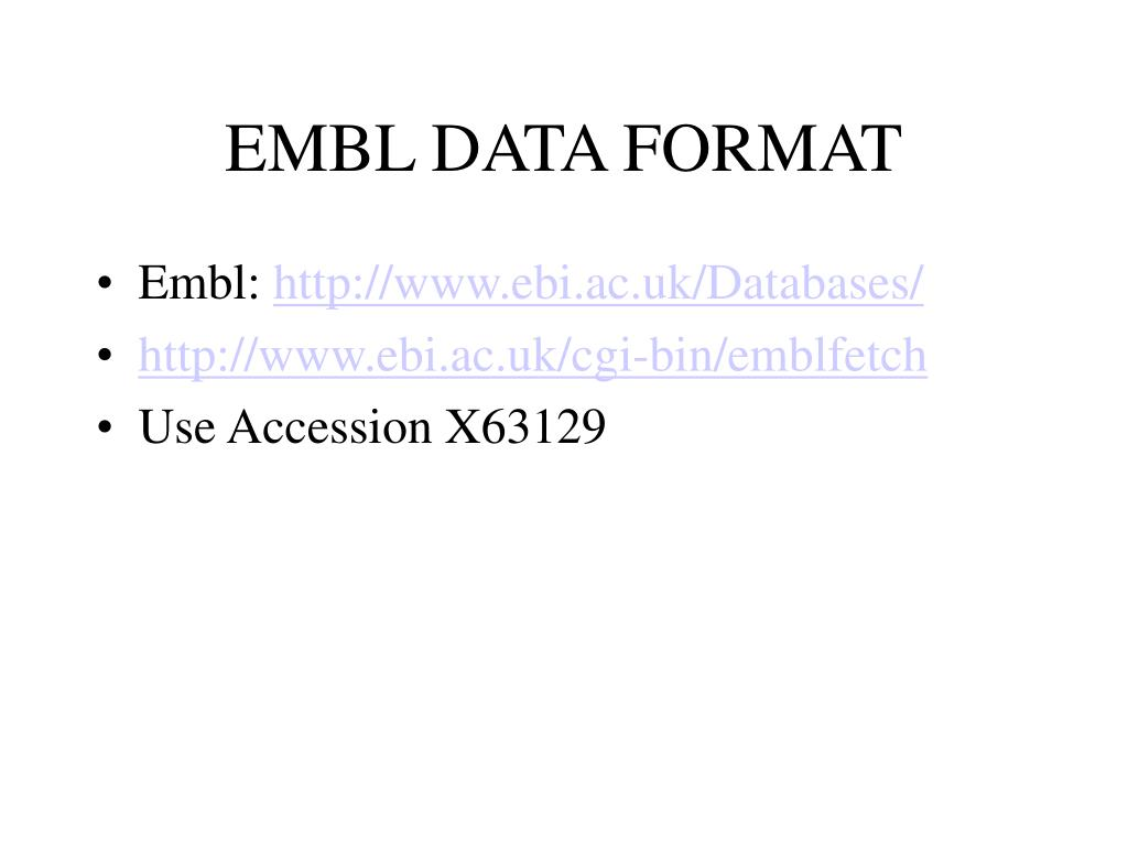 EMBL DATA FORMAT