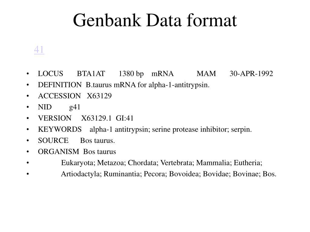 Genbank Data format