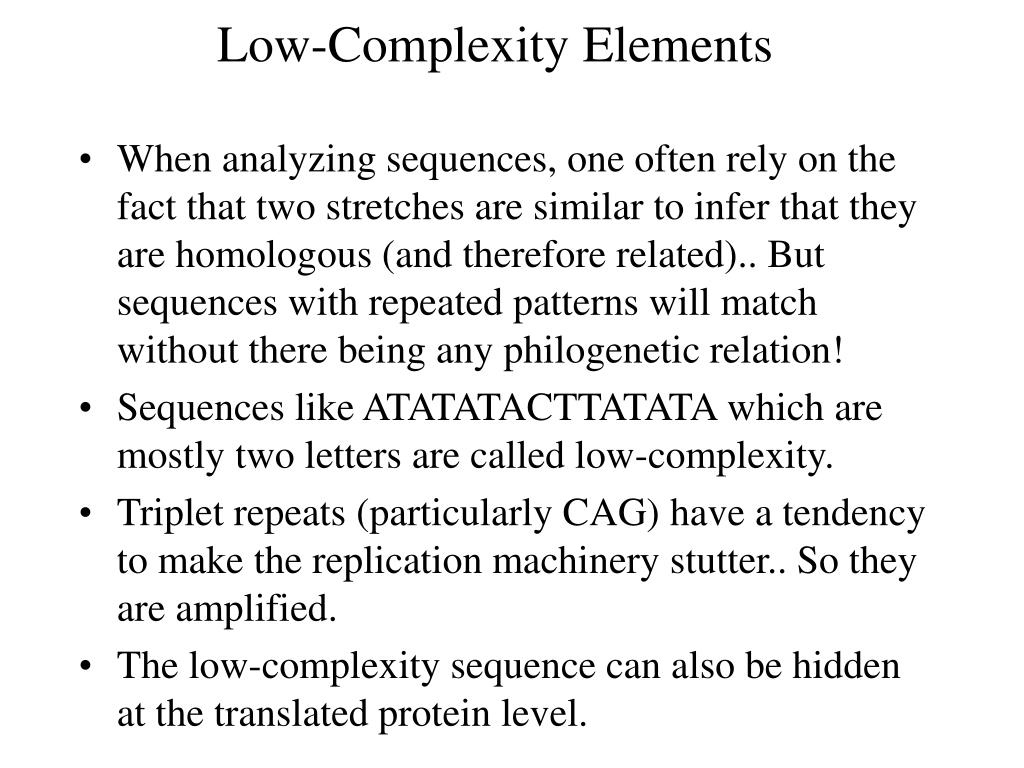 Low-Complexity Elements