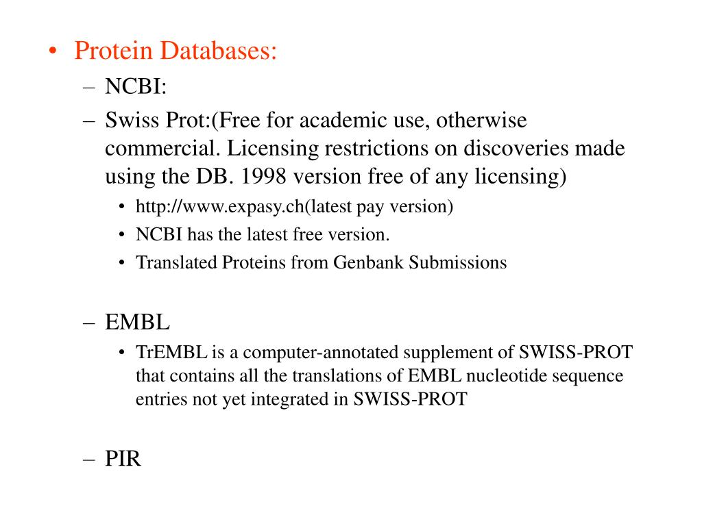 Protein Databases:
