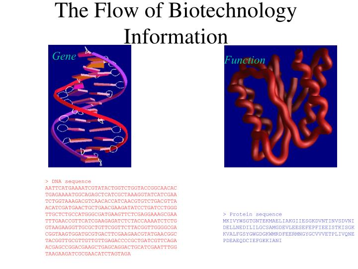 The flow of biotechnology information