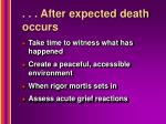 after expected death occurs38