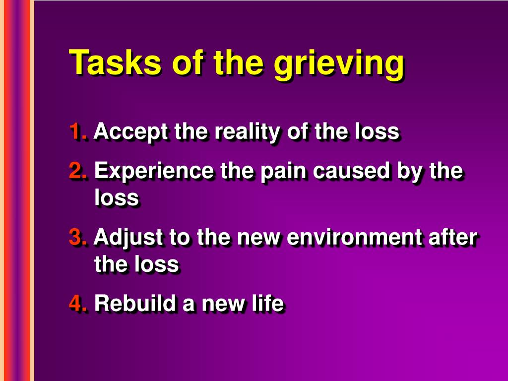 Tasks of the grieving