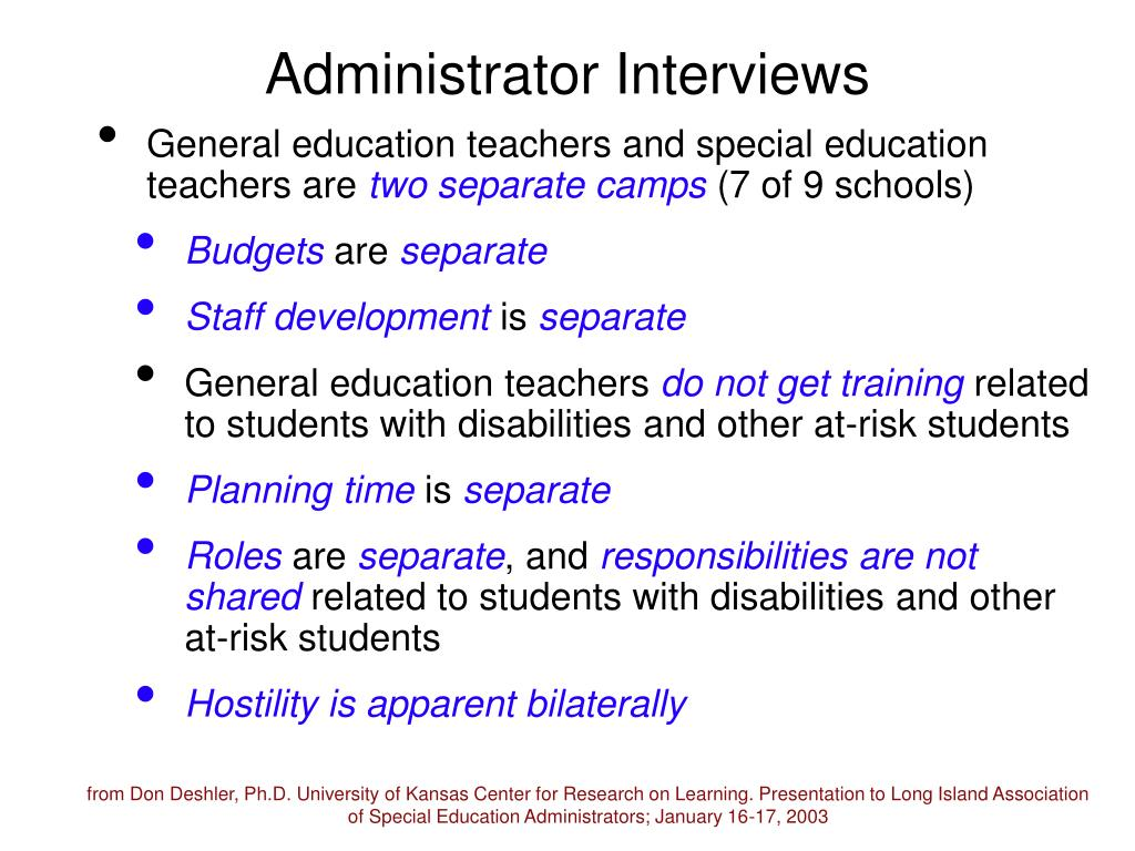 Administrator Interviews