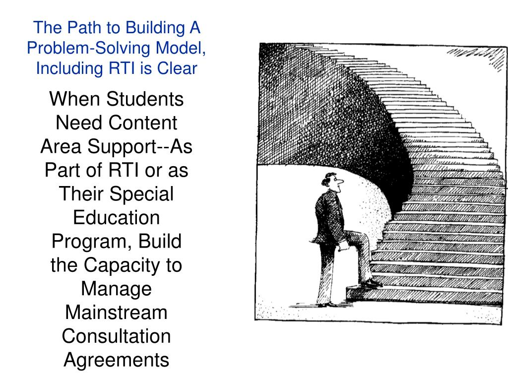 The Path to Building A Problem-Solving Model, Including RTI is Clear