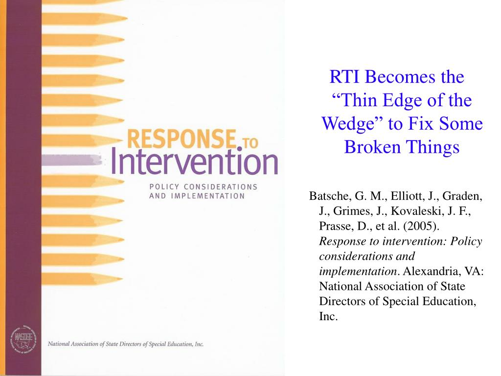 "RTI Becomes the ""Thin Edge of the Wedge"" to Fix Some Broken Things"