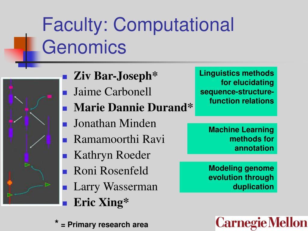 Faculty: Computational Genomics