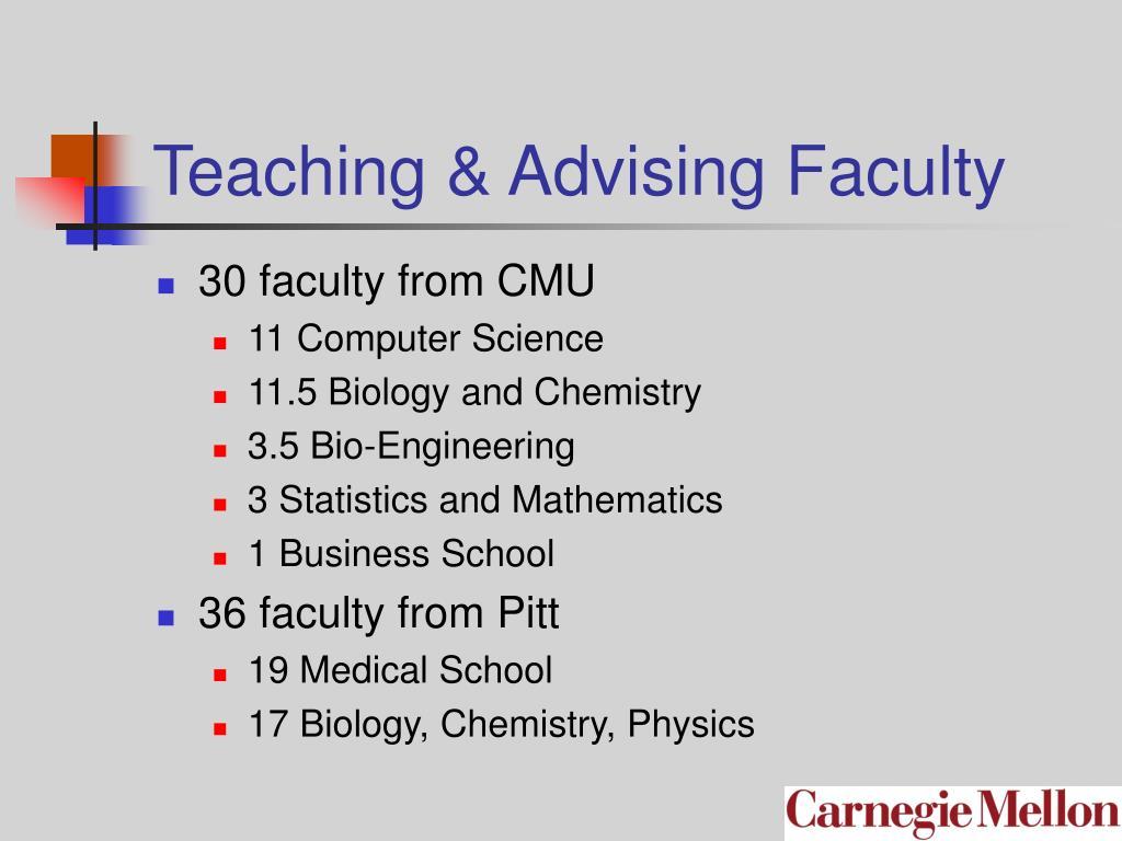 Teaching & Advising Faculty