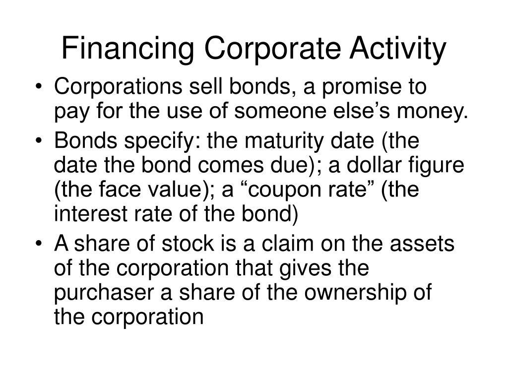 Financing Corporate Activity