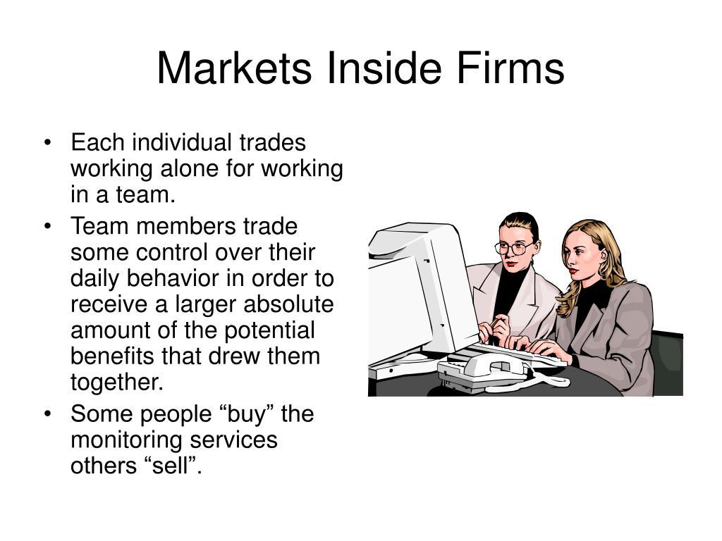 Markets Inside Firms