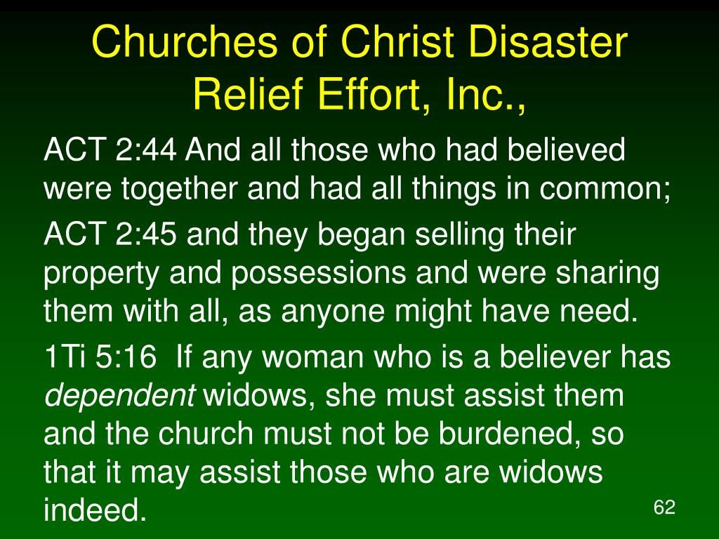 Churches of Christ Disaster Relief Effort, Inc.,