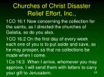 churches of christ disaster relief effort inc63