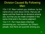 division caused by following men30