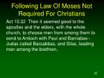 following law of moses not required for christians35