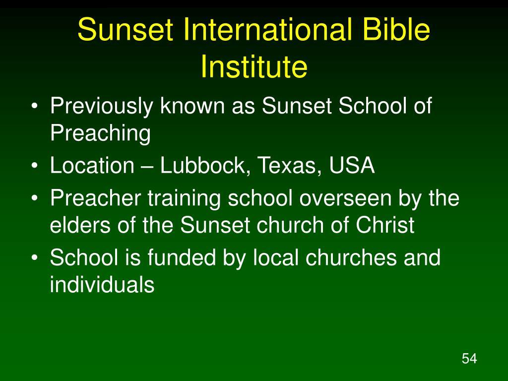 Sunset International Bible Institute