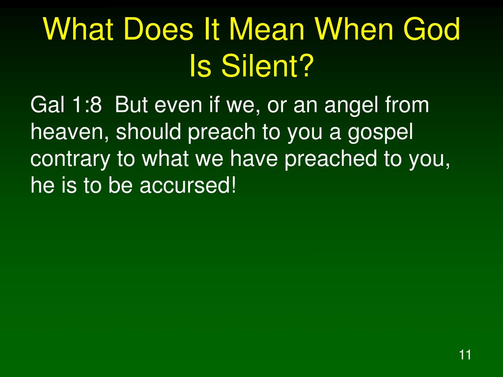 What Does It Mean When God Is Silent?