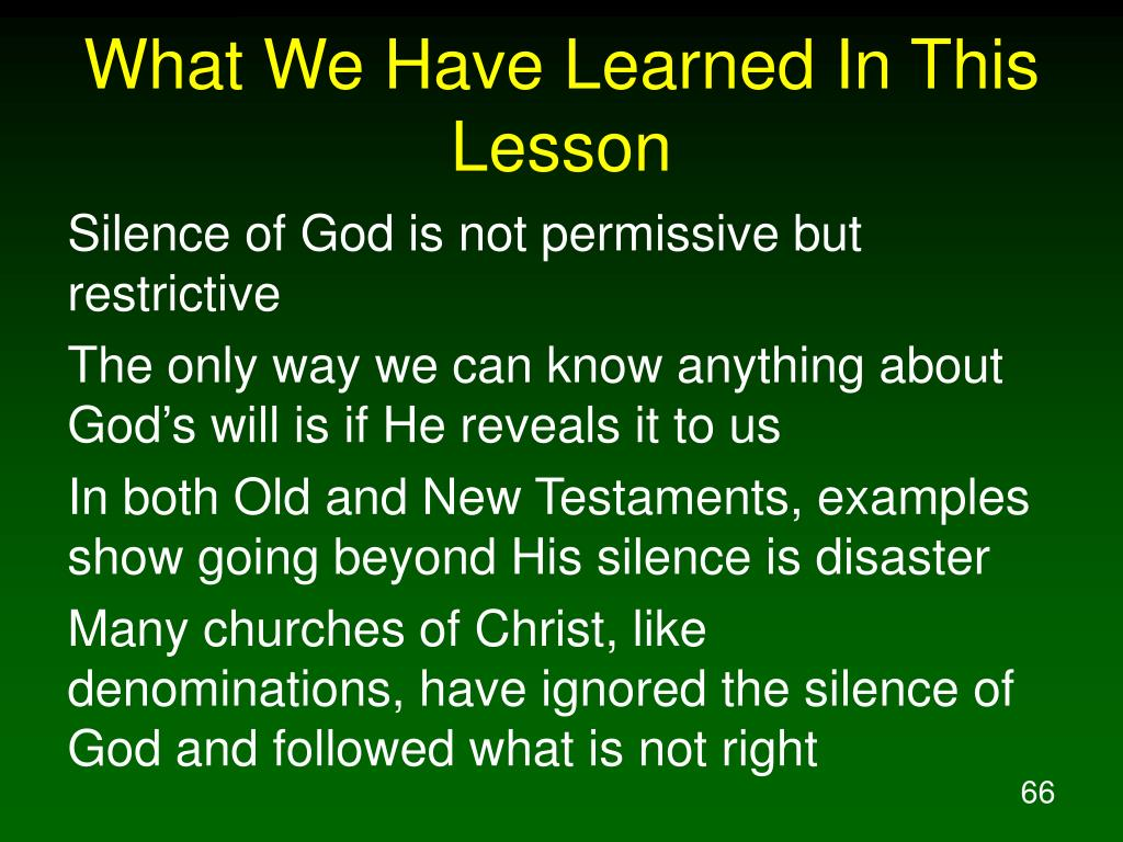 What We Have Learned In This Lesson