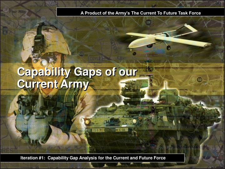 A Product of the Army's The Current To Future Task Force