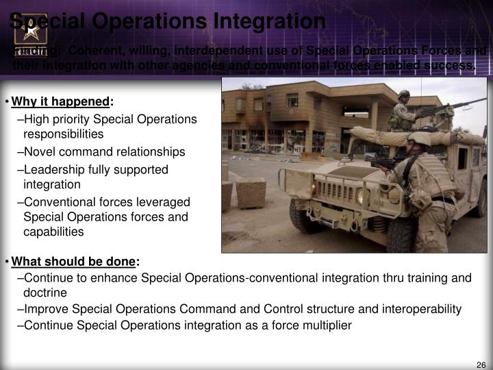 Special Operations Integration