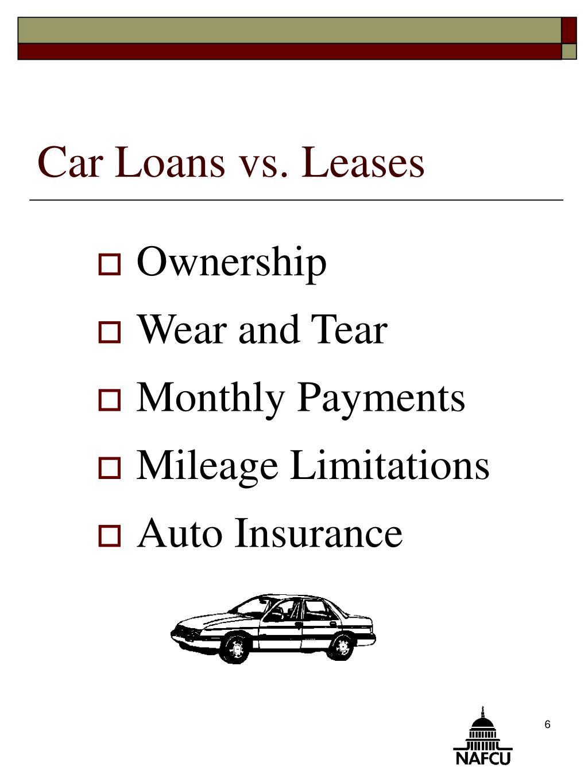 Car Loans vs. Leases