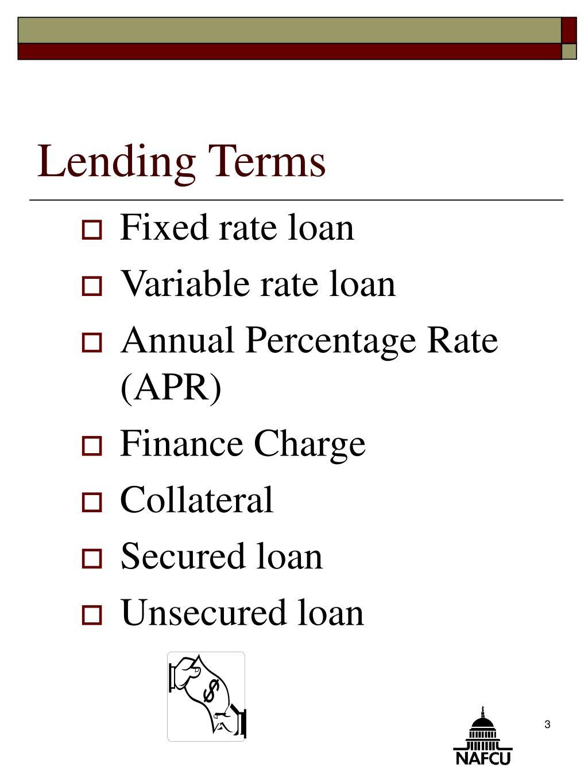 Lending Terms
