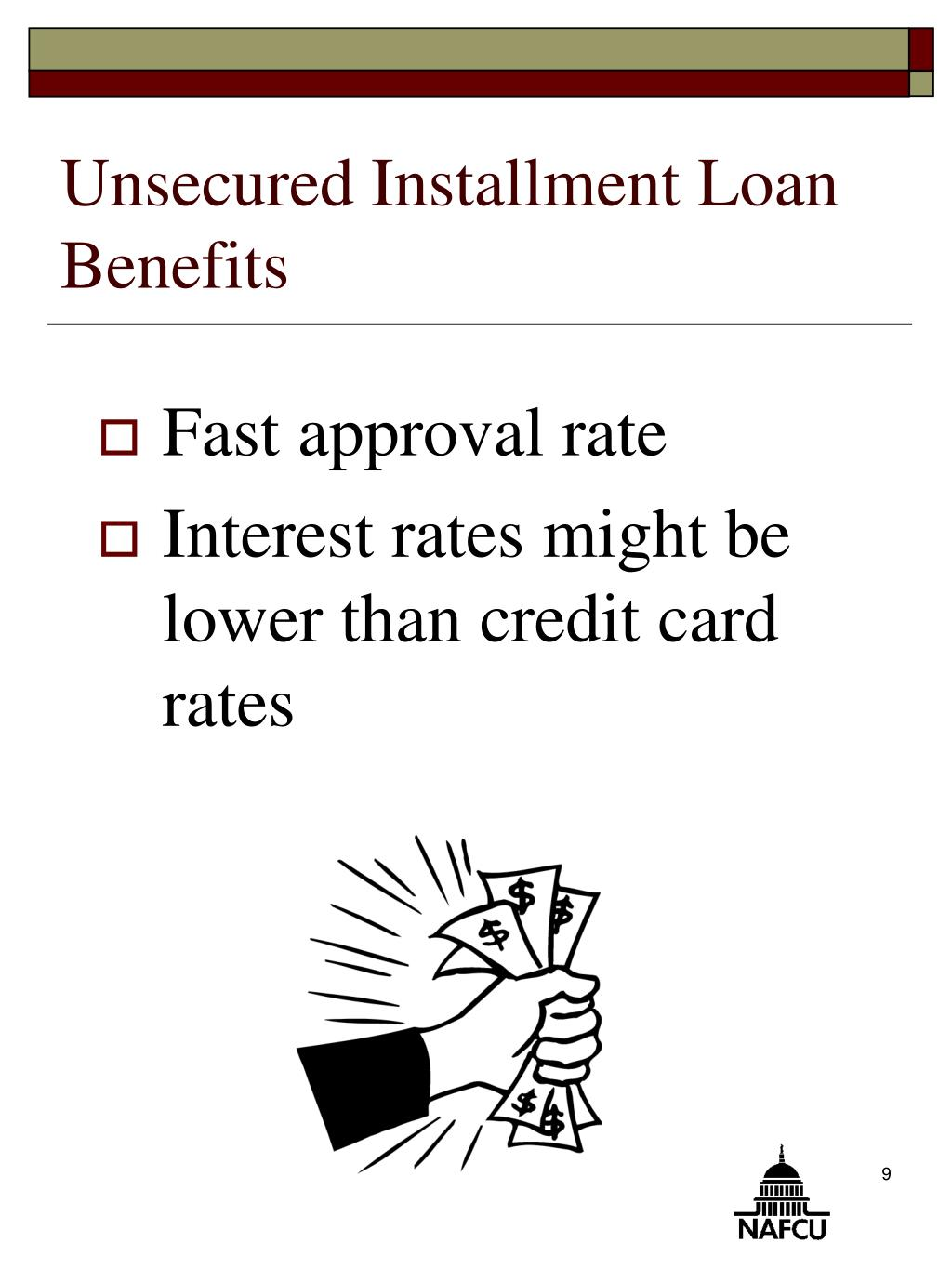 Unsecured Installment Loan Benefits
