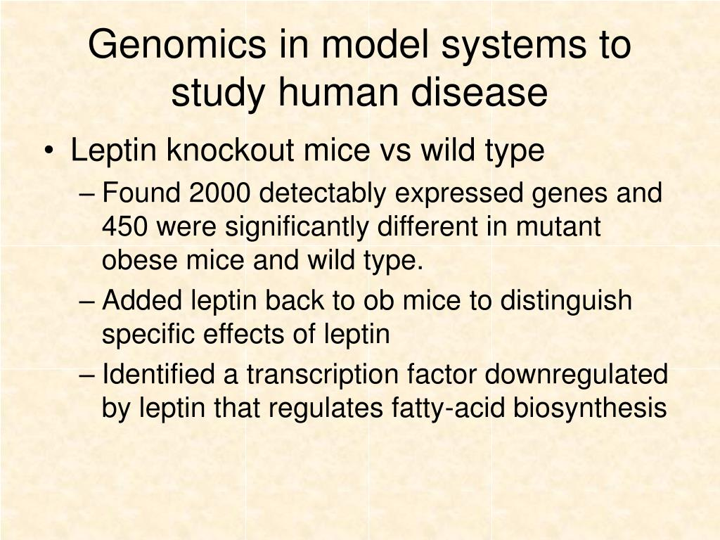 Genomics in model systems to study human disease