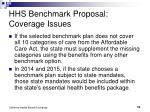 hhs benchmark proposal coverage issues