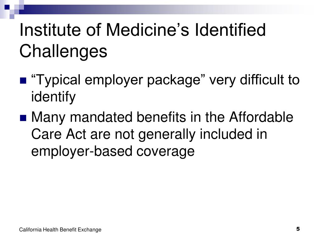 Institute of Medicine's Identified Challenges
