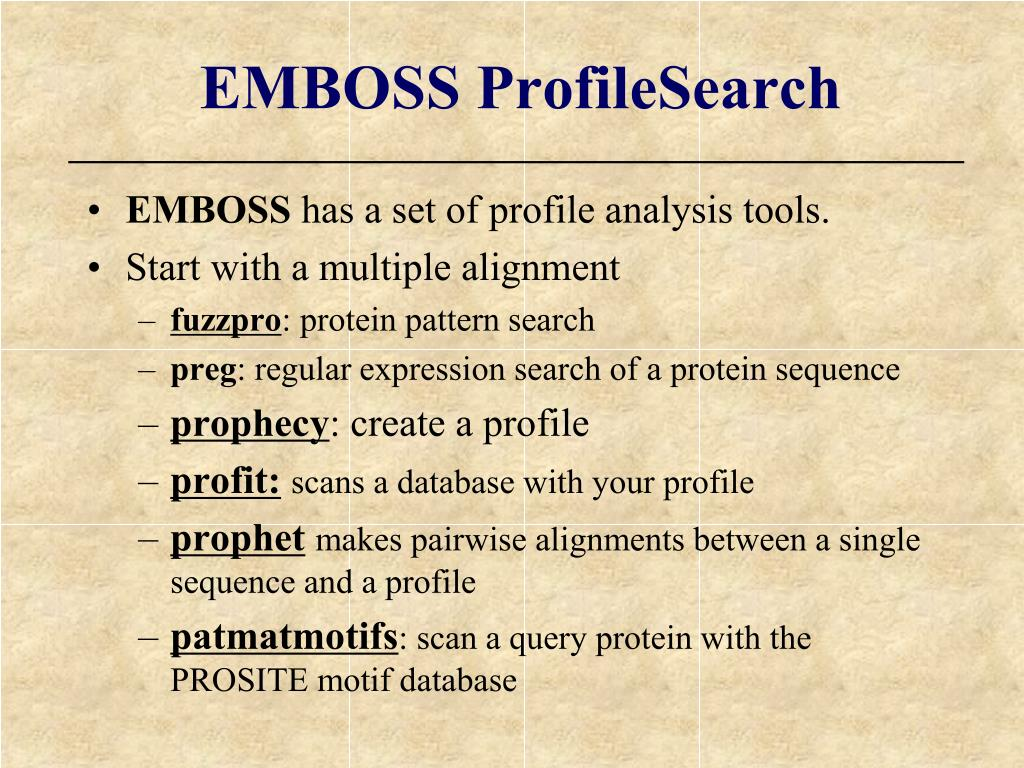 EMBOSS ProfileSearch