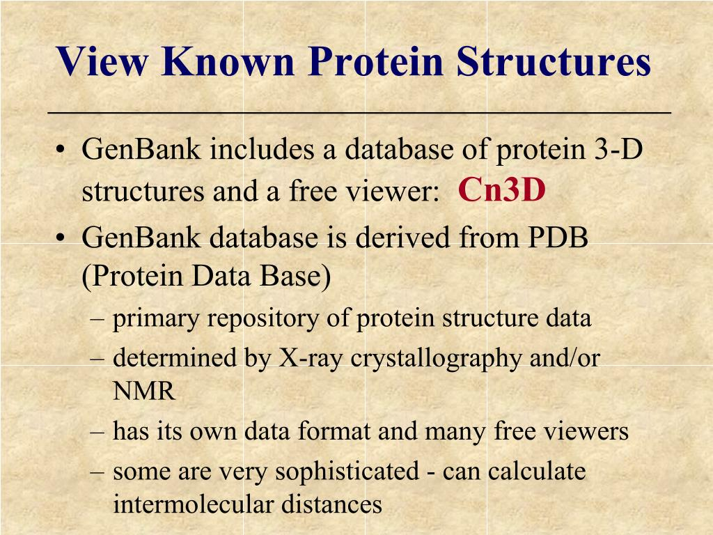 View Known Protein Structures