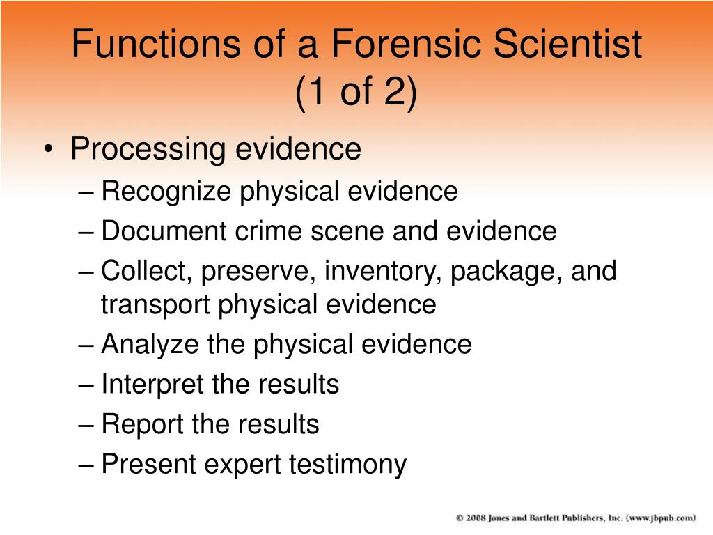 Functions of a Forensic Scientist