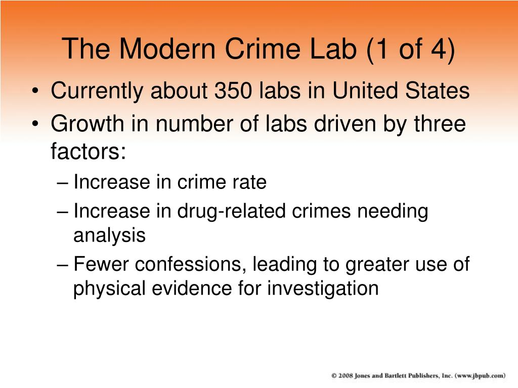 The Modern Crime Lab (1 of 4)