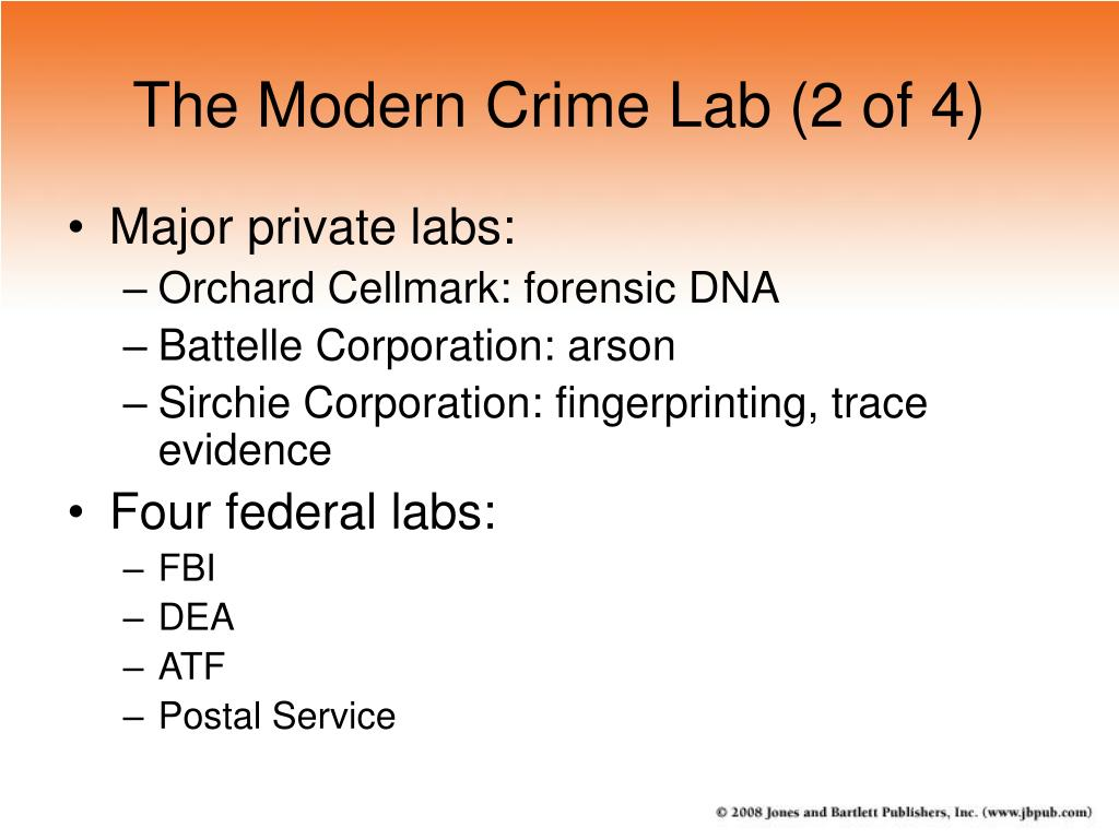 The Modern Crime Lab (2 of 4)