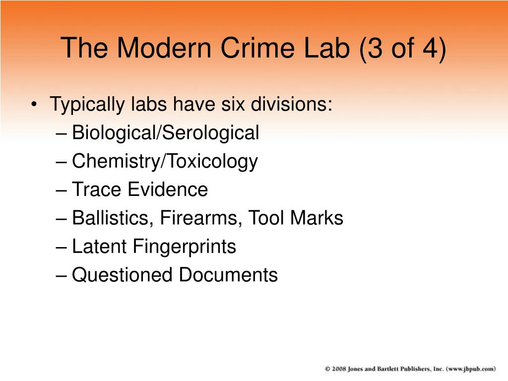 The Modern Crime Lab (3 of 4)