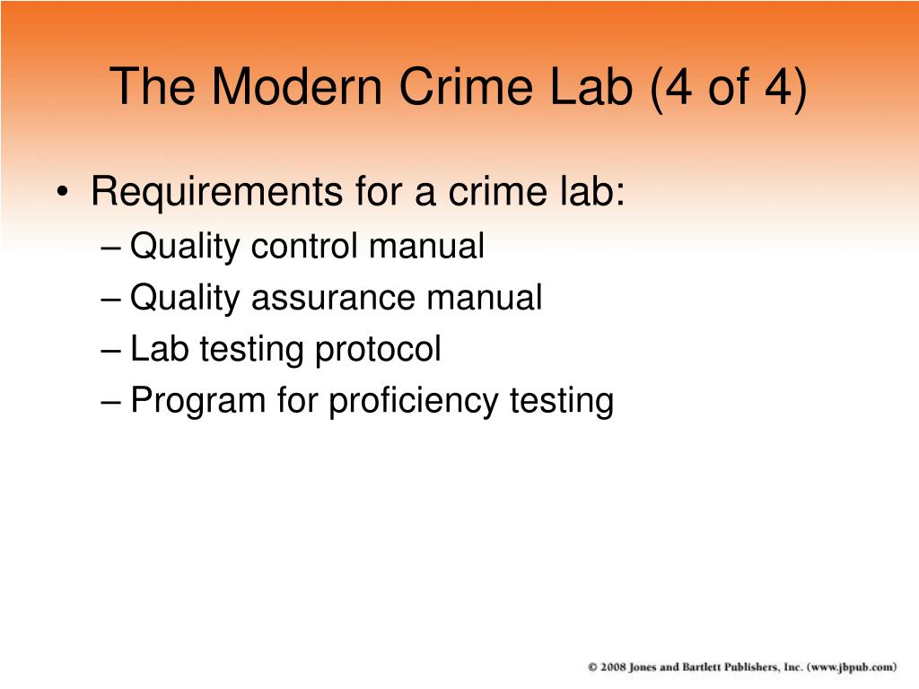 The Modern Crime Lab (4 of 4)