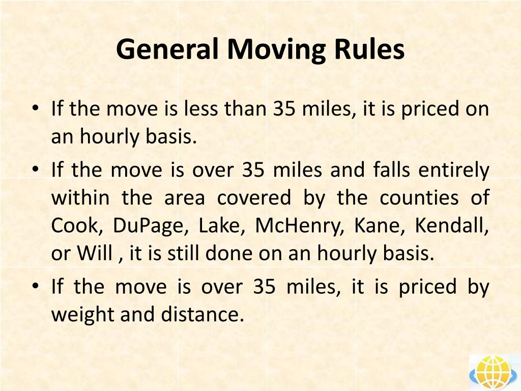 General Moving Rules