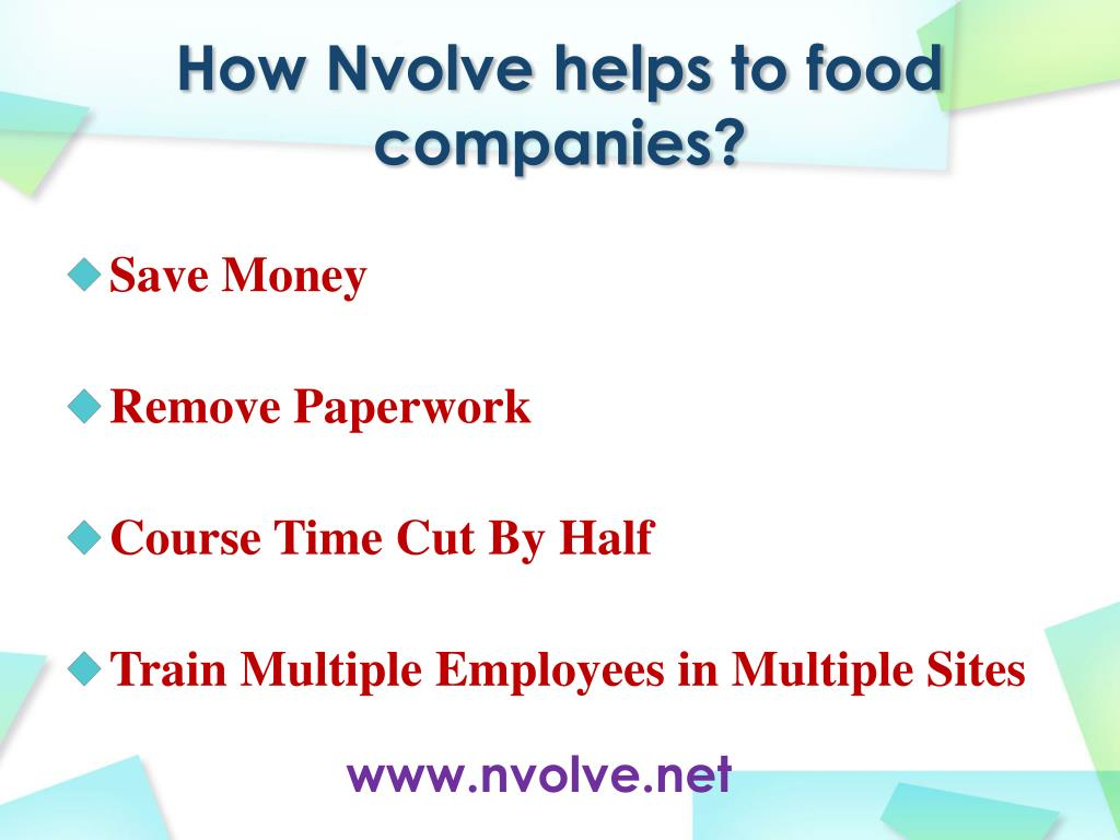 How Nvolve helps to food companies?