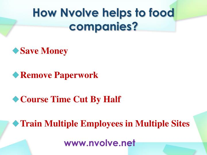 How nvolve helps to food companies