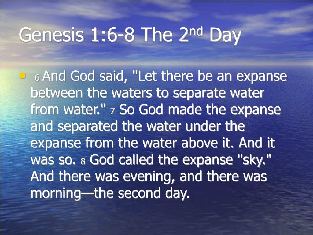 Genesis 1:6-8 The 2