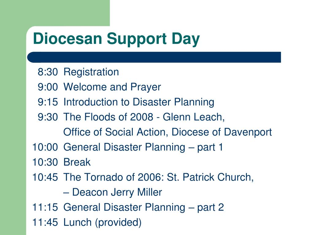 Diocesan Support Day