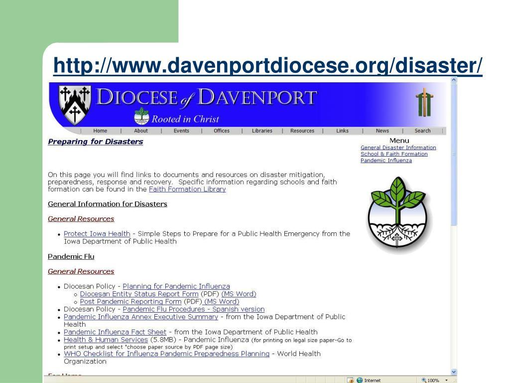 http://www.davenportdiocese.org/disaster/